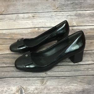 Brooks Brothers Patent Black Leather Pump